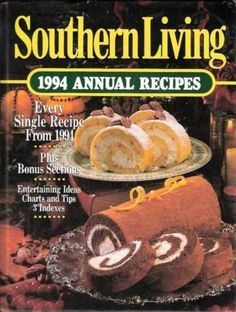 Southern Living Annual Recipes Cookbook Year 1994