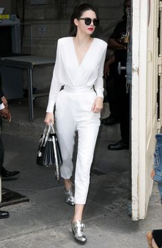 Yes, the runway model is bringing back bodysuits.