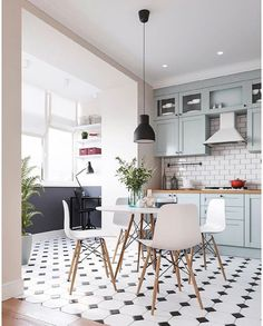 VK is the largest European social network with more than 100 million active users. Kitchen Interior, Modern Interior, Kitchen Decor, Kitchen Design, Interior Design, Open Plan Kitchen Living Room, Kitchen Trends, Green Kitchen, Cozy House