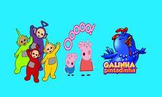 Peppa Pig Playset Novos desenhos 2015 Vários episódios Família Pig Galin...