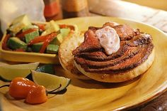 Grilled Cuban Steak Sandwiches English Muffin Brands, English Muffin Recipes, Steak Sandwich Recipes, Steak Sandwiches, Bays English Muffins, Sandwich Melts, Rare Steak, British, Strip Steak