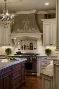 This stove hood...and kitchen colors are def on my bucket list of things to have before I die! LOVE LOVE LOVE!