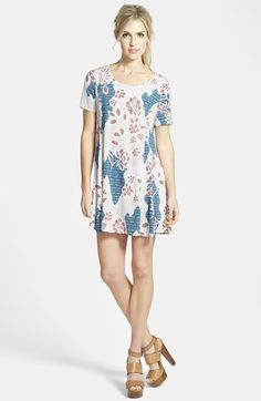 ASTR Short Sleeve Print Dress available at #Nordstrom