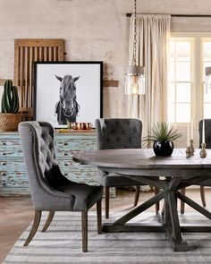 """Cintra Extension Dining Table 63""""-79""""   Four Hands Furniture"""