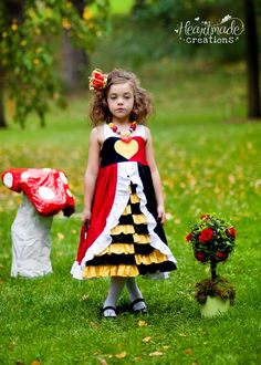 Queen of Hearts - Everyday Princess Dress - Character Inspired Dress - 12mo through 7 on Etsy, $100.00