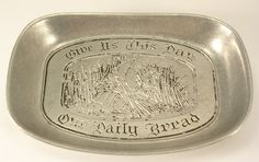 Wilton Pewter Tray Give Us This Day Our Daily Bread Small by JohnGermaine on Etsy