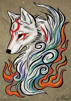 Amaterasu Tattoo by NairasIllustrations on DeviantArt