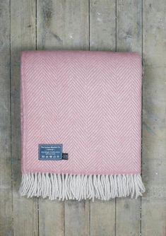 Lifestyle New Wool Blanket in Dusky Pink Herringbone £65