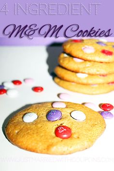 4 Ingredient M Cookies #Recipe #Desserts