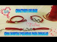 Como hacer pulseras de antelina para regalar, bracelets - YouTube
