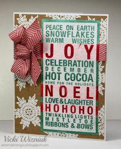 Poster Tidings Joy Card - Wizards Hangout