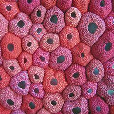 crochet sea urchins by 0mothership0, via Flickr
