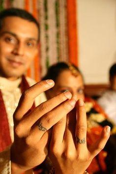 sanskrit wedding ring tattoos