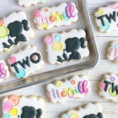 Cookies For Kids, Fancy Cookies, Custom Cookies, Cookie Cake Decorations, Cookie Decorating, Cookie Designs, Cookie Ideas, Bubble Party, Iced Sugar Cookies