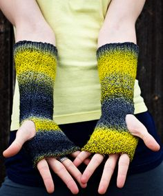 Pussywillow mitts : Deep Fall 2013 /// Dyed In The Wool yarn, from Spincycle!