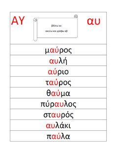Learn Greek, Greek Language, Greek Alphabet, Speech Therapy, Special Education, Teaching, Feelings, School, Speech Pathology