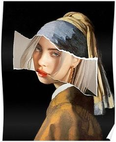 Girl with a Pearl Earring Collage Billie Eilish (Fail .- Mädchen mit einer Perlen-Earring-Collage Billie Eilish (FailunFailunMefailun) Girl with a Pearl Earring Collage Billie Eilish Art Photography, Photomontage, Art Drawings, Art, Collage Art, Art Wallpaper, Pop Art, Billie Eilish, Aesthetic Art
