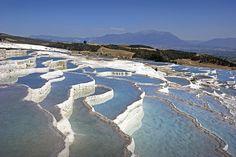 Las piscinas naturales de Pamukkale, al sudoeste de Turquía.