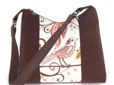 Large Zipper Top Shoulder Bag / Hobo Bag /  Purse / by ThePurseCo, $80.00