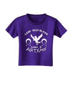 TooLoud Camp Half Blood Cabin 8 Artemis Toddler T-Shirt Dark