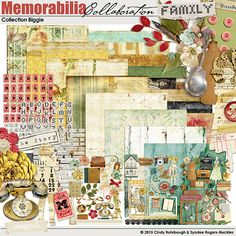 Memorabilia Collection Biggie Digital Scrapbooking Kit by Cindy Rohrbough, Syndee Nuckles | ScrapGirls.com