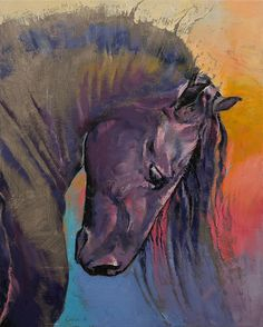 "creese: "" Friesian - oil painting by Michael Creese """