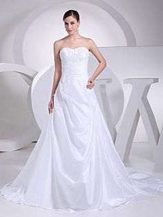 Madie - Принцесса Атласная свадебном платье с Аппликации - RUB 11647,91руб.