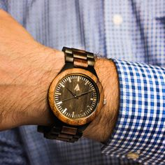 Stainless Steel Wood Watch // Black Arthur