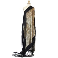 Rare 1920s Gold Lame & Silk Fringe Shawl | From a collection of rare vintage scarves at http://www.1stdibs.com/fashion/accessories/scarves/