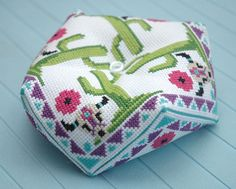 How to Assemble a Biscornu Material List: Biscornu Pattern (you can buy this Western theme Biscornu Pattern here) Aida Cloth or Linen Embroidery Needle Embroidery Floss Fiberfil 2 Beads or Buttons ...