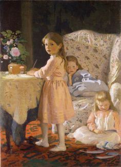 Three Girls (Group of Children) by Charles Hopkinson - The Armory Show at 100
