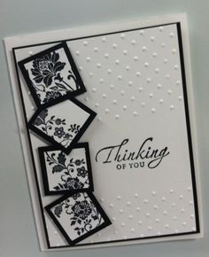 Great, yet simple card.  Would be good format for any occasion.  (Oct'12)  #sympathy, #black & white, #CAS