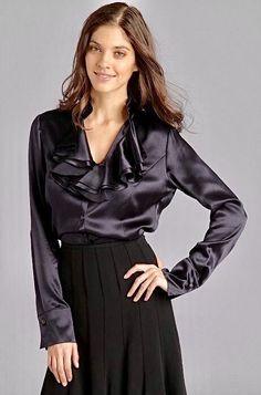 Pias Satin World Waterfall Leather Jacket, Black Faux Leather Jacket, Leather Jackets, Real Leather, Coats For Women, Jackets For Women, Clothes For Women, Blouse Sexy, Stylish Outfits
