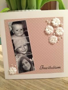 Niklas, Diy For Girls, Christening, Happy Holidays, Cardmaking, Party Themes, Marie, Diy And Crafts, Projects To Try