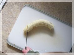 How to slice a banana - a Montessori inspired practical life exercise for my 2 year old :: from forthisseason.com