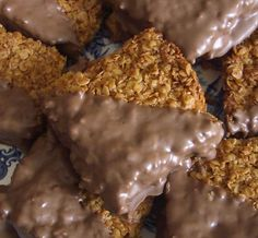 Quick & Easy Chocolate Dipped Flapjacks would change marg for butter ( no transfat) less sugar