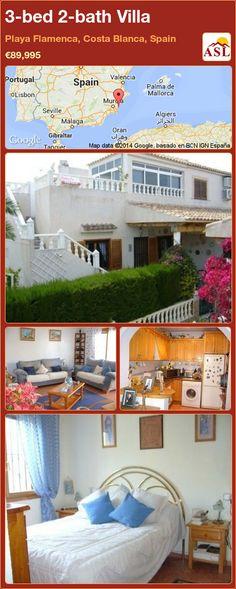3-bed 2-bath Villa in Playa Flamenca, Costa Blanca, Spain ►€89,995 #PropertyForSaleInSpain