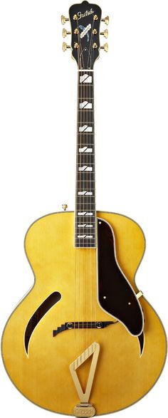 G400JV Jimmie Vaughan Synchromatic™ by Gretsch® Acoustic Guitars   Designed by blues-rock great Jimmie Vaughan for everything from blues to jazz, the gorgeous G400JV Jimmie Vaughan Synchromatic™ features all solid-wood construction, with a Fishman® archtop acoustic pickup system, Grover® Imperial™ machine heads and a natural nitrocellulose lacquer finish.