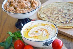 Creamy, spicy and decadent, the perfect greek-style dip or spread. Invite your friends around and impress them with this addition to your mezze spread! Hummus Recipe, Pickled Pepperoncini, Feta Dip, Greek Restaurants, Greek Salad, Creamy Sauce