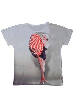 t-shirt Damska koszulka z nadrukiem, motyw Ikona Hollywood Marilyn Monroe www.dariza.pl Sklep Dariza Stworzona By inspirować