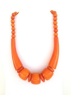 Orange chunky necklace by ketkiscollection on Etsy, $25.00