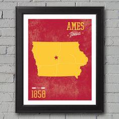 Iowa State University Print by UniversityPrints on Etsy, $12.00