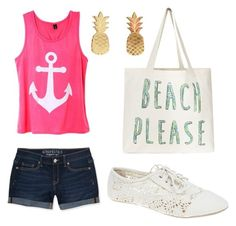 """1. Beach Please"" by k-dirkse18 ❤ liked on Polyvore featuring Aéropostale, Wet Seal and Vinca"