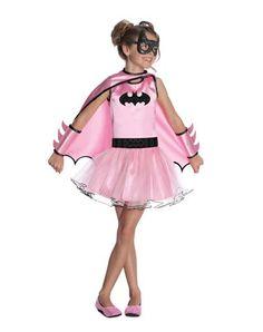 Batgirl Pink Tutu Girls Costume