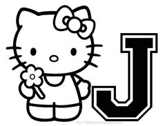 27 Best Hello Kitty Letters images | Coloring Pages, Hello ...