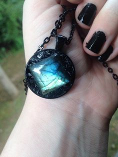 Labradorite and Black Tourmaline Necklace by MineralMoon on Etsy https://www.etsy.com/listing/244817723/labradorite-and-black-tourmaline