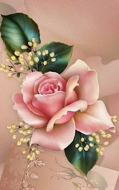 Wallpaper…By Artist Unknown… – Flowers Flowers Art Floral, Flower Backgrounds, Wallpaper Backgrounds, Beautiful Roses, Beautiful Flowers, Flower Phone Wallpaper, Illustration Blume, Shabby Chic Crafts, Rose Art