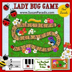 Lady Bug Game to learn notes and keys - my students' favorite!