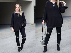 Get this look: http://lb.nu/look/8557303  More looks by Jenaly Enns: http://lb.nu/jenalyenns  Items in this look:  American Apparel Fisherman Sweater, Frame Le High Skinny Distressed Denim   #casual #minimal #fashionblogger #style #fallstyle #inmydreams #vancouver #back