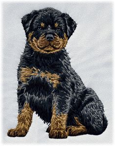 Detailed design documentation - colors, thread consumption, etc. Dog Pattern, Pattern Design, Rottweiler Puppies, Dog Design, Teddy Bear, Embroidery, Patterns, Dogs, Animals